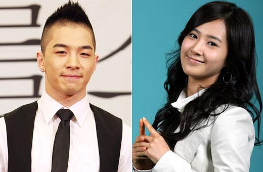 BIGBANGのテヤン(左)、少女時代のユリ