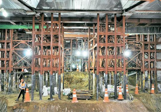 ソウル市庁本館建物に「浮構造工法」が国内で初めて適用されている=(写真:ソウル市提供)
