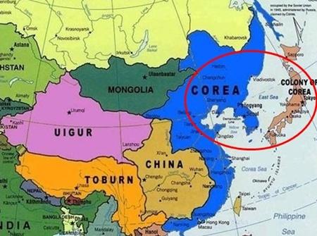 写真=ジョン・ティターが作成したと推定される2036年の世界地図