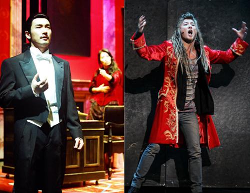 「ジキルとハイド」チョ・スンウ(左)、「モーツァルト!」ジュンス