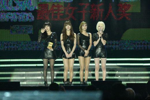 2010MAMAで3部門で受賞の栄冠に輝いたガールズグループのMissA(写真=Mnet)。