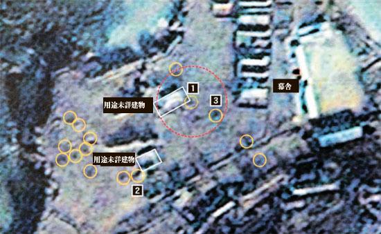 茂島(ムド)海岸砲基地のK-9自走砲弾着地点。