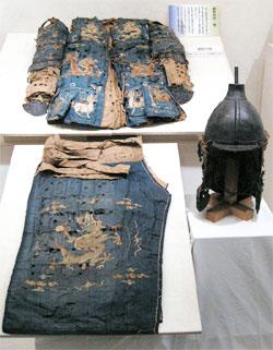 日本靖国神社の「神風」特別展で、高麗の甲冑と推定される遺物が公開された(朝鮮王室儀軌還収委員会)。