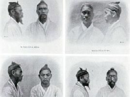 仏考古学者ブルダレの論文「韓国人、その人類学的スケッチ」(『リヨン人類学会誌』第21巻、1902)に収録された韓国人。