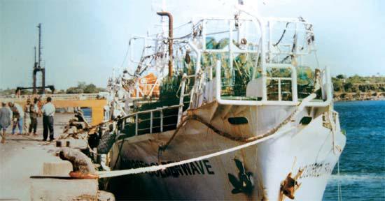 海賊らに拉致される前に「クムミ305号が」ケニア、モンバサ港に停泊している姿。(写真=キム・ジョンギュ氏)