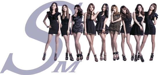 SMエンターテイメント所属の代表韓流スター、少女時代。