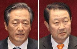 鄭夢準議員(左)と朴柱宣議員