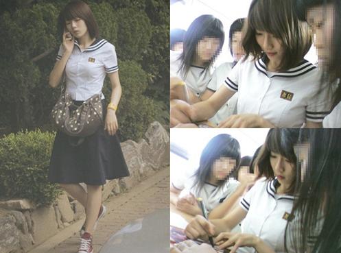 過去の制服写真が話題になっている4minuteのメンバー、ヒョナ(写真=オンラインコミュニティー)。