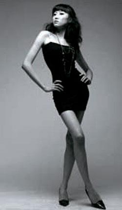 ワンルームマンションの自室で死亡したモデルのキム・ユリさん(写真=本人のミニホームページ)