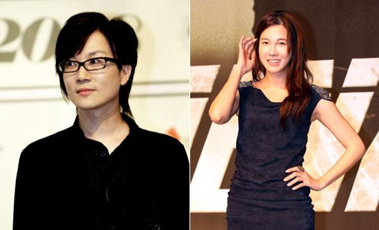 離婚訴訟中が伝えられたソテジ(左)と女優イ・ジア。