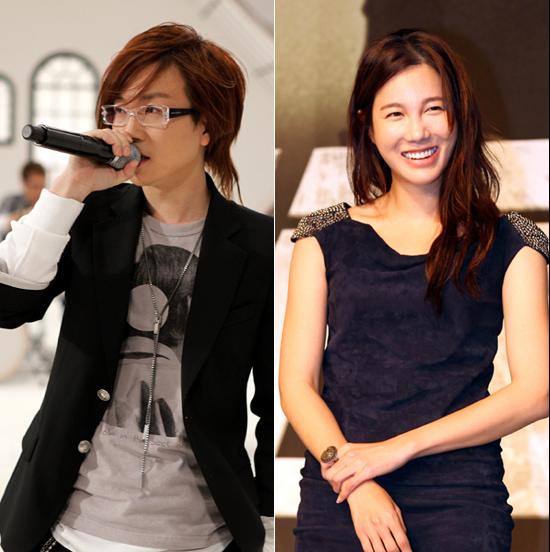 離婚訴訟中であることが知られたソテジ(39、本名チョン・ヒョンチョル、左)とイ・ジア(33、本名キム・ジア)。