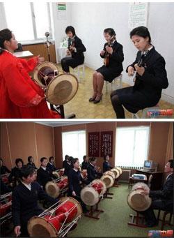 北朝鮮のある芸術学校で学生が入学試験を受けている。