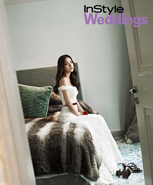 女優ミン・ヒョリンが28日、女性誌ウェディングスペシャルの写真を公開した。(写真=インスタイル提供)