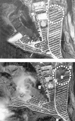 燿徳(ヨドク)収容所。下は10年前の写真
