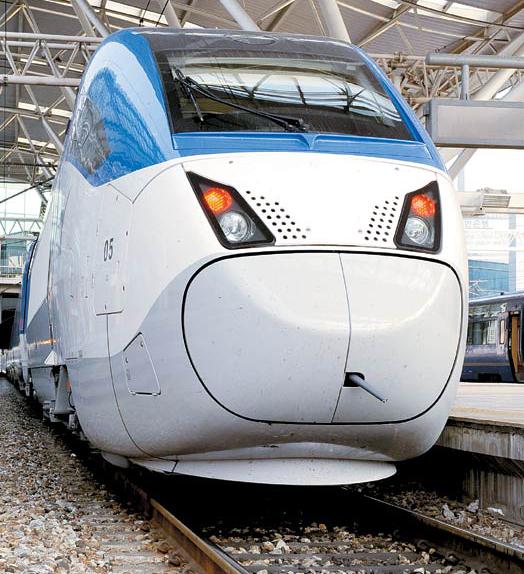 韓国型高速列車「KTX山川」。