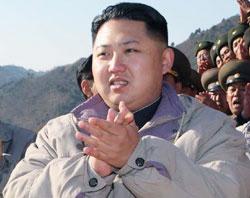 北朝鮮の金正日国防委員長の後継者に挙げられている金正恩。