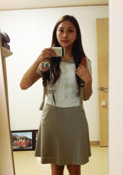 5年ぶりの制服姿を公開したKARAのパク・ギュリ(写真=本人のツイッター)。