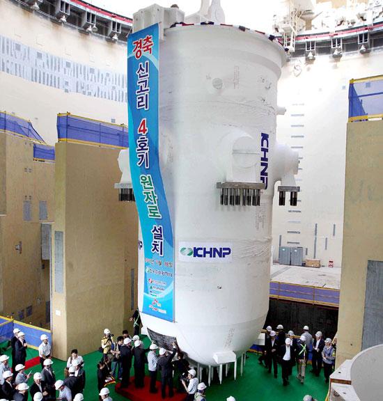 新古里(シンゴリ)3・4号機原発建設現場。