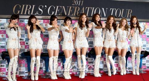 今月20日に新潟・東北電力ビッグスワンスタジアムで開催される「K-POPオールスターライブ・イン新潟」に登場するガールズグループの少女時代。