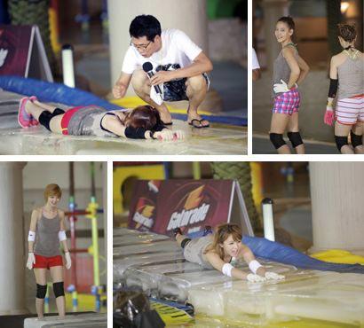 7日午前に放映され、扇情的だという意見が出て物議をかもした「出発ドリームチーム2」の「夏特集ドリームガールズ最強戦」(写真=KBS第2キャプチャー)。
