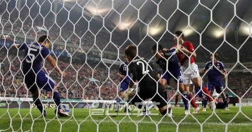10日に行われたサッカー韓日戦。