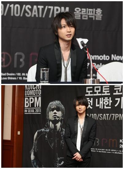 堂本光一が10日、ソウル弘恩洞グランドヒルトンホテルで来韓公演記念記者懇談会を開いた(写真=Mnet提供)。