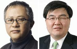 文化体育観光部長官後任候補の宋承桓氏(左)と保健福祉部長官後任候補の林采民氏。