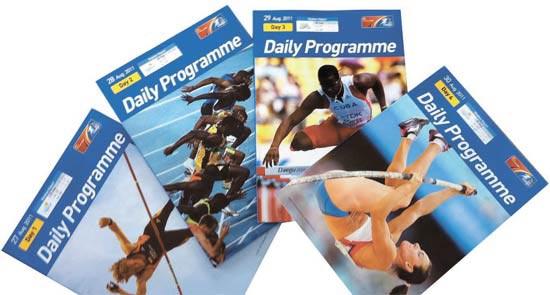 大邱(テグ)世界陸上選手権大会デイリープログラム。