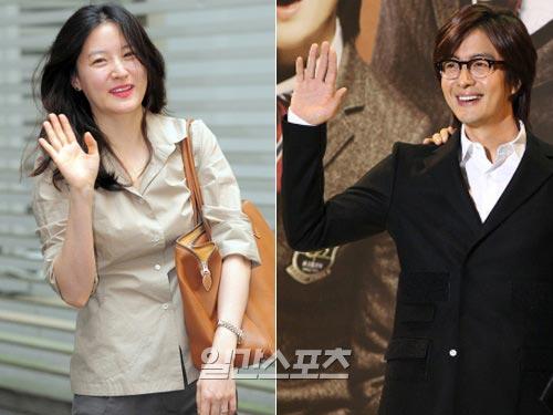 最近、カムバックがささやかれている女優のイ・ヨンエ(左)と俳優のペ・ヨンジュン。