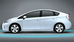 トヨタ自動車がフランクフルトモーターショーで初めて公開した次世代プリウス。