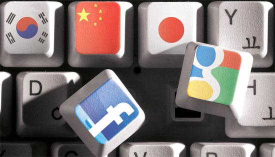 グーグルとフェイスブックは、韓国・日本・中国をまだまともに攻略できていない。