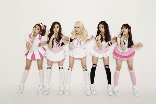 5人組グループのGirl's Day(ガールズデイ、写真提供=シブヤテレビジョン)。