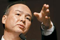 日本ソフトバンクの孫正義会長。