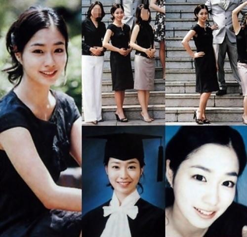 女優のイ・ミンジョンの大学の卒業写真