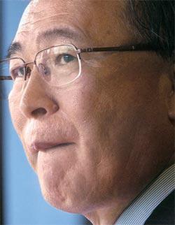 東芝の西田厚聰会長(68)。
