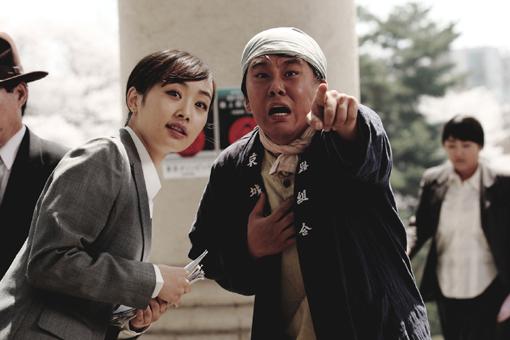 映画「マイウェイ」にカメオ出演したKARA(カラ)のニコル(写真=SKプラネット提供)。