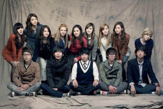 「少女時代と危険な少年たち」の出演陣(写真=JTBC提供)。