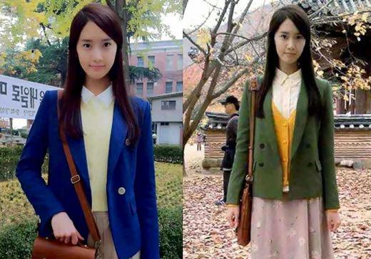 ドラマ「ラブレイン」で70年代の衣装を見せる少女時代のユナ(写真=オンライン掲示板)。