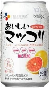 CJ第一製糖の缶マッコリ「CJおいしいマッコリ」。