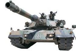 韓国陸軍の戦車「K1A1」。