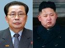 北朝鮮の張成沢(チャン・ソンテク)国防委員会副委員長(左)と金正恩(キム・ジョンウン)。
