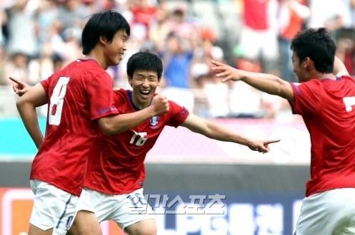 韓国のオリンピック(五輪)代表チーム。