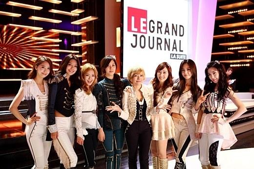 仏「Canal+(キャナル・プリュス)」のトーク番組「LE GRAND JOURNAL(ル・グラン・ジュルナル)」に出演した少女時代。