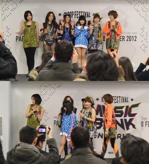 KBS(韓国放送公社)第2テレビの「ミュージックバンク・イン・パリ」公演のフォトタイムに登場したT-ARA(ティアラ)。