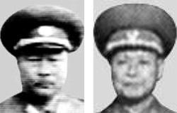 金格植(キム・ギョクシク、左)、辺仁善(ピョン・インソン、右)。