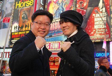 歌手キム・ジャンフン(写真左)とソ・ギョンドク教授。