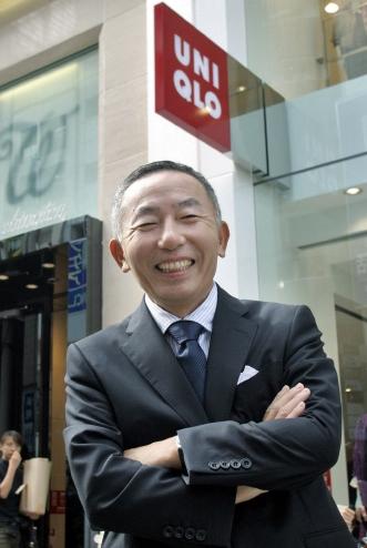 衣類ブランド「ユニクロ」を所有するファーストリテイリングの柳井正会長。