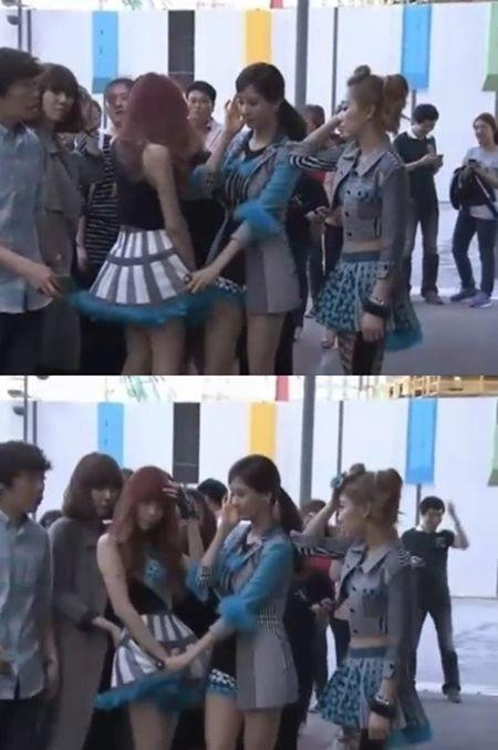 少女時代のテティソ(写真=Mnet「ワイド芸能ニュース」のキャプチャー画面)。