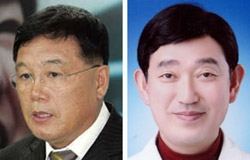 金鉉奨(キム・ヒョンジャン、左)氏とカン・ジョンホン氏。