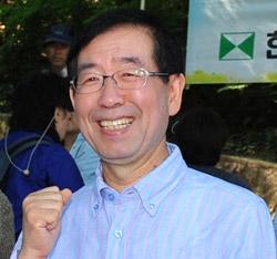 朴元淳(パク・ウォンスン)市長。